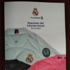 Coleccionismo deportivo: RESUMEN DEL INFORME ANUAL 2019-2020 REAL MADRID. Lote 236947415