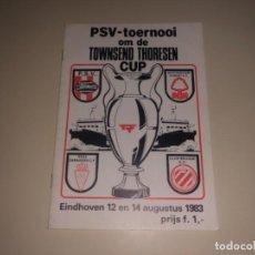 Coleccionismo deportivo: REVISTA PROGRAMA FÚTBOL PSV NOTTINGHAM REAL ZARAGOZA BRUGGE 1983. Lote 234757415