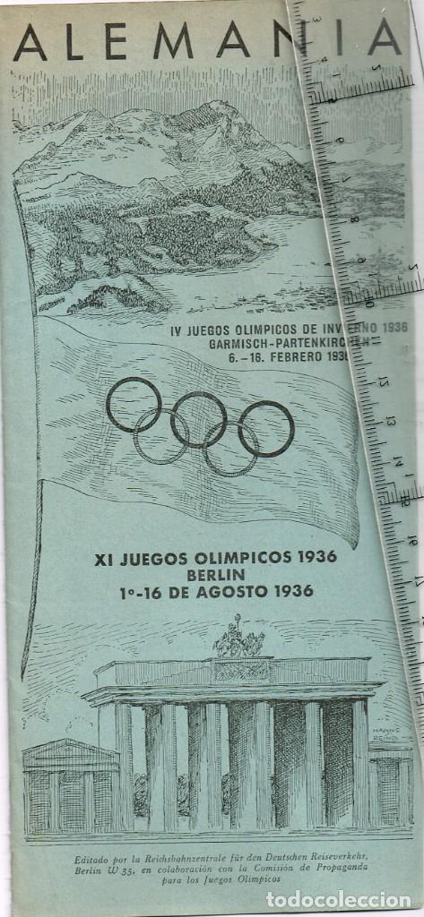 1936 XI JUEGOS OLÍMPICOS DE BERLÍN - IV JUEGOS OLÍMPICOS DE INVIERNO 1936 GARMISCH - PARTENKIRCHEN (Coleccionismo Deportivo - Documentos de Deportes - Otros)