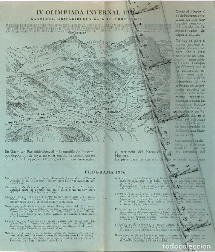 Coleccionismo deportivo: 1936 XI Juegos Olímpicos de Berlín - IV Juegos Olímpicos de Invierno 1936 Garmisch - Partenkirchen - Foto 2 - 237397335