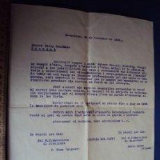 Coleccionismo deportivo: (VP-88)DOCUMENTO DE DESPIDO DE PIERA DEL F.C.BARCELONA AÑOS 20-ARCHIVO VICENÇ PIERA. Lote 239451505