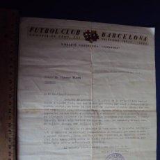 Coleccionismo deportivo: (VP-87)DOCUMENTO DE RECLAMACION DE CUOTAS A PIERA DEL F.C.BARCELONA AÑOS 20-ARCHIVO VICENÇ PIERA. Lote 239451965