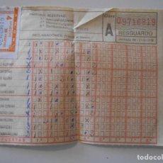 Coleccionismo deportivo: QUINIELA DE FUTBOL DE LA JORNADA 40 DEL 11/06/1978. CON PARTIDOS DE SELECCIONES NACIONALES Y DE LA L. Lote 240404130