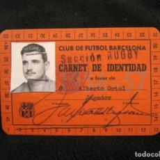 Coleccionismo deportivo: FC BARCELONA-SECCION RUGBY-CARNET IDENTIDAD JUGADOR-AÑO 1955 1957-VER FOTOS-(77.537). Lote 240926700