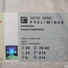 Collezionismo sportivo: ENTRADA JUEGOS OLIMPICOS BARCELONA 92 BALONCESTO - BASKET - PRELIMINAR - USA DREAM TEAM - M. JORDAN. Lote 242354820