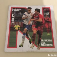 Coleccionismo deportivo: PROGRAMA REVISTA FÚTBOL NUMANCIA REAL ZARAGOZA 2013/14. Lote 242418865