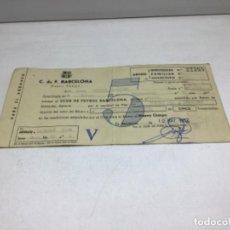 Coleccionismo deportivo: F.C. BARCELONA - ABONO NUEVO CAMPO - ABONO 5 TEMPORADAS AÑO 1957. Lote 244407795