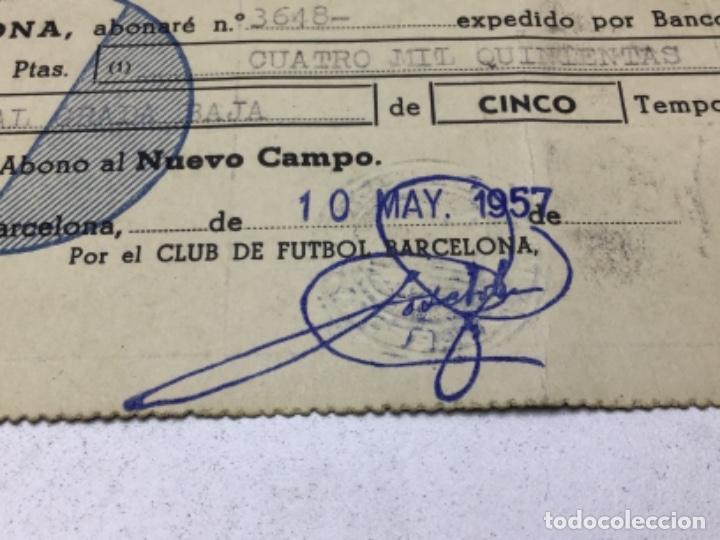 Coleccionismo deportivo: F.C. BARCELONA - ABONO NUEVO CAMPO - ABONO 5 TEMPORADAS AÑO 1957 - Foto 3 - 244407795