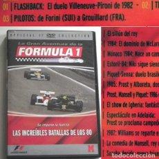Coleccionismo deportivo: DVD FÓRMULA 1 LAS GRANDES BATALLAS DE LOS 80 - F1 DEPORTE COCHES PROST SENNA PIQUET HISTORIA MCLAREN. Lote 244714585