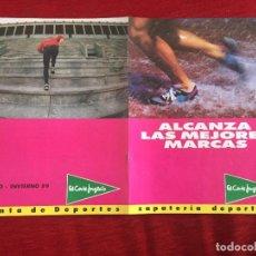 Collezionismo sportivo: PUBLICIDAD EL CORTE INGLES OTOÑO INVIERNO 89 1989 ZAPATILLAS NIKE KARHU NB REEBOK KELME ADIDAS. Lote 244745620