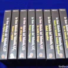 Coleccionismo deportivo: LA GRAN HISTORIA DEL VALENCIA CF- VHS TODOS LOS CAPÍTULOS. Lote 245628695