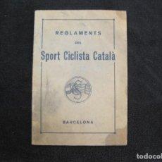 Coleccionismo deportivo: CICLISME-REGLAMENTS DEL SPORT CICLISTA CATALA-ANY 1934-BARCELONA-VEURE FOTOGRAFIES-(K-2031). Lote 246730810