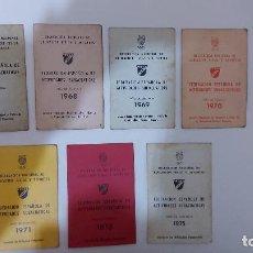 Coleccionismo deportivo: T-618.- LOTE DE -- 7 -- LICENCIAS -FEDERACION ESPAÑOLA DE ACTIVIDADES SUBACUATICAS , VER AÑOS. Lote 247747915