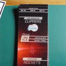 Coleccionismo deportivo: ENTRADA DE NBA DEL PARTIDO HOUSTON ROCKETS - LOS ANGELES CLIPPERS 15-1-2013. Lote 248175000