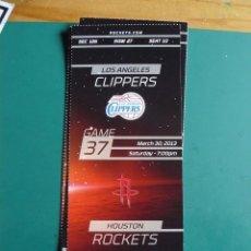 Coleccionismo deportivo: ENTRADA DE NBA DEL PARTIDO HOUSTON ROCKETS - LOS ANGELES CLIPPERS 30-3-2013. Lote 248175090