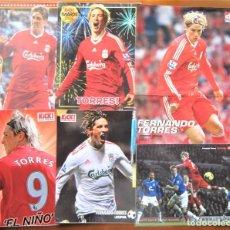 Coleccionismo deportivo: LOTE 10 POSTER FERNANDO TORRES LIVERPOOL FC EX ATLETICO MADRID 30X44 Y 22X29 ORIGINAL LFC109. Lote 262363420