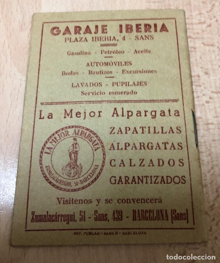 CURIOSO LIBRITO , CAMPEONATO NACIONAL DE LIGA 3ª DIVISIÓN 6º GRUPO UNIÓN DEPORTIVO SANS , 1.957 - 58 (Coleccionismo Deportivo - Documentos de Deportes - Otros)