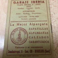 Coleccionismo deportivo: CURIOSO LIBRITO , CAMPEONATO NACIONAL DE LIGA 3ª DIVISIÓN 6º GRUPO UNIÓN DEPORTIVO SANS , 1.957 - 58. Lote 251479495