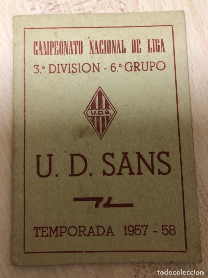 Coleccionismo deportivo: CURIOSO LIBRITO , CAMPEONATO NACIONAL DE LIGA 3ª DIVISIÓN 6º GRUPO UNIÓN DEPORTIVO SANS , 1.957 - 58 - Foto 2 - 251479495