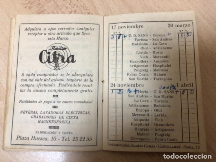 Coleccionismo deportivo: CURIOSO LIBRITO , CAMPEONATO NACIONAL DE LIGA 3ª DIVISIÓN 6º GRUPO UNIÓN DEPORTIVO SANS , 1.957 - 58 - Foto 10 - 251479495