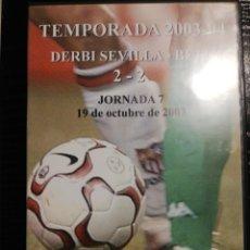 Coleccionismo deportivo: SEVILLA - BETIS (TEMPORADA 2003-2004) DVD. Lote 252431555