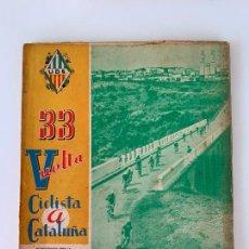 Coleccionismo deportivo: 33 VUELTA VOLTA CICLISTA CATALUÑA 1953 UNIO ESPORTIVA SANS. Lote 252792270