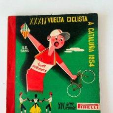 Coleccionismo deportivo: 34 VUELTA VOLTA CICLISTA CATALUÑA 1954 UNIO ESPORTIVA SANS. Lote 252792470