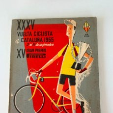 Coleccionismo deportivo: 35 VUELTA VOLTA CICLISTA CATALUÑA 1955 UNIO ESPORTIVA SANS. Lote 252792665