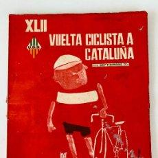 Coleccionismo deportivo: 42 VUELTA VOLTA CICLISTA CATALUÑA 1962 UNIO ESPORTIVA SANS. Lote 252794515