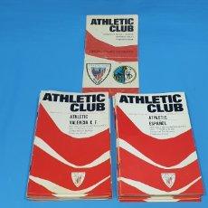 Coleccionismo deportivo: LOTE DE 30 PROGRAMAS - ATHLETIC CLUB DE BILBAO - TEMPORADAS 1970/71 Y 1971/72. Lote 252910385