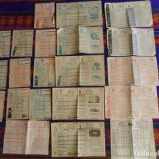 Coleccionismo deportivo: LOTE 11 BOLETO QUINIELA SIN USO AÑO 1960 1961 1965 1968 1970 Y 10 RESGUARDO 1963 1965 1968. RAROS.. Lote 253894590