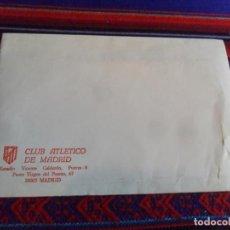 Coleccionismo deportivo: SOBRE SIN USO CLUB ATLÉTICO DE MADRID, ESTADIO VICENTE CALDERÓN PASEO VIRGEN DEL PUERTO 67. RARO. BE. Lote 253913535