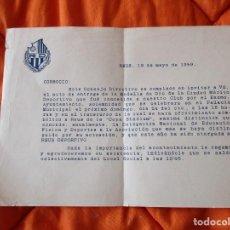 Coleccionismo deportivo: OFRECIMIENTO SIMBOLICO DE LA (COPA STADIUM) AL REUS DEPORTIVO. REUS 19 MAYO 1959.. Lote 253916995