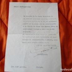 Coleccionismo deportivo: REUS DEPORTIVO. A DON JOSE ANDREU. POR COLOBORACION FIESTA DE TODOS LOS SANTOS (RIFA DE CONFITURAS). Lote 253918180