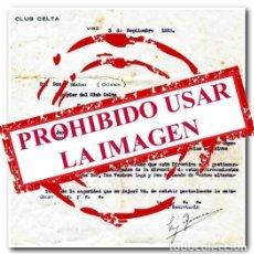 Coleccionismo deportivo: 03-09-1923. CARTA OFICIAL DEL CELTA. CONVOCATORIA DE LOS PRIMEROS ENTRENAMIENTOS DE LA HISTORIA. Lote 254463255