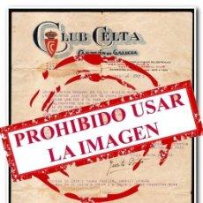 Coleccionismo deportivo: 23-12-1925. CARTA OFICIAL DEL CELTA. ANAGRAMA ORIGINAL DE LA ÉPOCA DEL REAL CLUB CELTA. Lote 254464075
