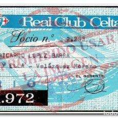 Coleccionismo deportivo: CARNET ABONO CELTA DE VIGO TEMPORADA 1971/72 COPA DE LA UEFA. Lote 254465180