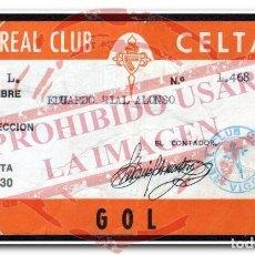 Coleccionismo deportivo: CARNET ABONO CELTA DE VIGO TEMPORADA 1974/75. Lote 254465195