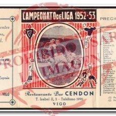Coleccionismo deportivo: CALENDARIO ALMANAQUE CELTA DE VIGO 1952/53. Lote 254465350