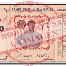Coleccionismo deportivo: CALENDARIO ALMANAQUE CELTA DE VIGO 1953/54. Lote 254465355