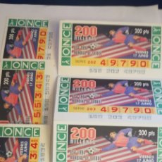 Coleccionismo deportivo: LOTE 7 CUPONES ONCE MUNDIAL USA 1994 MUNDIAL FUTBOL 94 EEUU. Lote 254801220