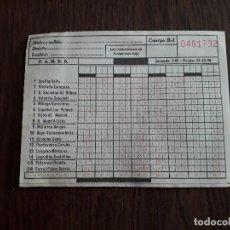 Coleccionismo deportivo: QUINIELA ANTIGUA, JORNADA 15 FECHA 13-12-1970. Lote 255010560