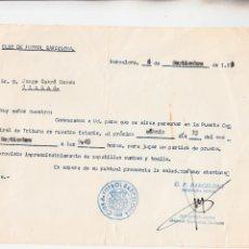 Coleccionismo deportivo: INVITACION DEL FC BARCELONA PARA UNA PRUEBA AÑO 1973. Lote 255471145