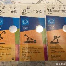 Coleccionismo deportivo: LOTE DE 3 EMTRADAS OLÍMPICAS, ATENAS 2004. Lote 256073185