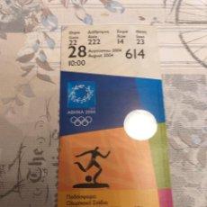 Coleccionismo deportivo: ENTRADA DE FINAL OLÍMPICA DE FÚTBOL, ATENAS 2004 (ARGENTINA 1- PARAGUAY 0). Lote 256073505