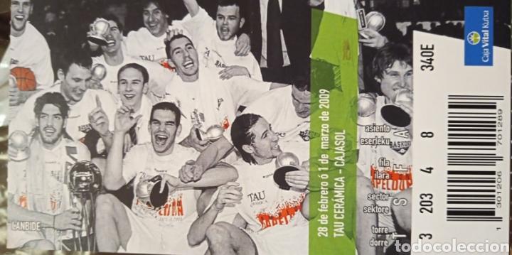 ENTRADA BASKONIA VS CAJASOL (Coleccionismo Deportivo - Documentos de Deportes - Otros)