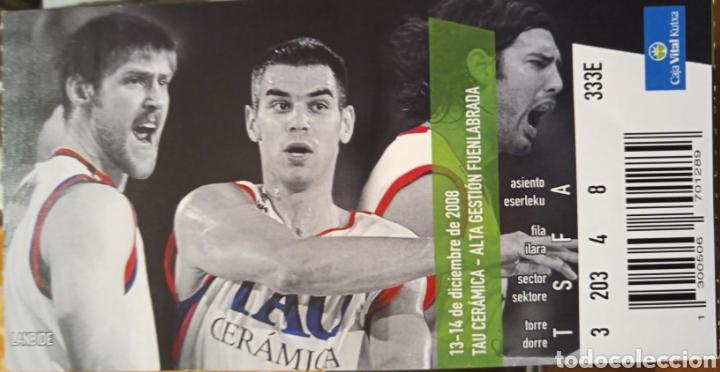 ENTRADA BASKONIA VS FUENLABRADA (Coleccionismo Deportivo - Documentos de Deportes - Otros)