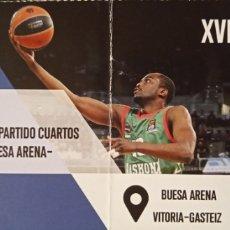 Coleccionismo deportivo: ENTRADA BASKONIA PLAY-OFF EUROLIGA. Lote 257329935
