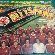 Coleccionismo deportivo: DISCO ALEMAN OLE MUNDIAL MUNDIAL FÚTBOL 1982 ARIOLA NUEVI ESTADO DISCOS COLISEVM ANTIGÜEDADES. Lote 257399420