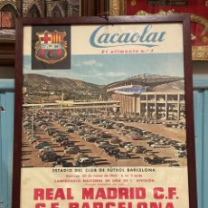 Coleccionismo deportivo: CARTEL DE FÚTBOL REAL MADRID CF BARCELONA 1960. Lote 259758545